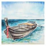 Fundo do mar da aquarela ilustração do vetor