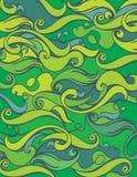 Fundo do mar da onda Textura abstrata do oceano Matéria têxtil com motriz da onda Imagem de Stock Royalty Free