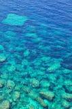 Fundo do mar no trasparente da água Imagem de Stock Royalty Free