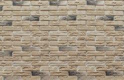 Fundo do marrom da alvenaria e dos tijolos de clinquer bege na parede, que são usados no reparo dos locais fotografia de stock royalty free