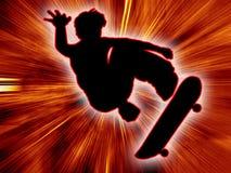 Fundo do menino do skater Imagens de Stock