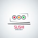Fundo do menu da placa do rolo de sushi Foto de Stock