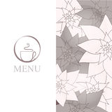 Fundo do menu do copo de café ilustração royalty free