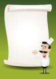 Fundo do menu do poster do restaurante do cozinheiro chefe Imagens de Stock Royalty Free