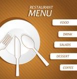 Fundo do menu do restaurante Fotografia de Stock