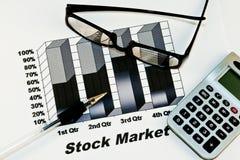 Fundo do mercado de valores de acção Foto de Stock