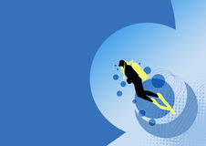 Fundo do mergulhador Imagem de Stock