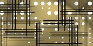 Fundo do metal com círculos e linhas pretas Fotografia de Stock