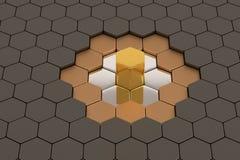 Fundo do metal do favo de mel, ilustração 3D Imagem de Stock Royalty Free