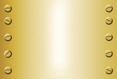 Fundo do metal do ouro Imagem de Stock