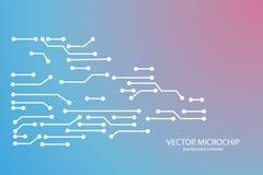 Fundo do microchip do vetor Imagem de Stock