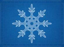Fundo do modelo do floco de neve foto de stock royalty free