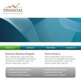 Fundo do molde do negócio corporativo com logotipo Imagens de Stock Royalty Free