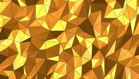 Fundo do mosaico do ouro 3d, rendição 3d ilustração stock