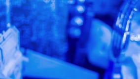 Fundo do movimento do título da introdução, elementos futuristas borrados vídeos de arquivo