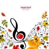 Fundo do musical do outono ilustração royalty free
