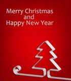 Fundo do Natal abstrato e do ano novo. vetor Foto de Stock Royalty Free