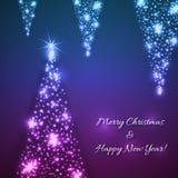 Fundo do Natal azul do vetor e do ano novo Imagem de Stock
