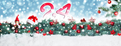 Fundo do Natal, bandeira foto de stock royalty free
