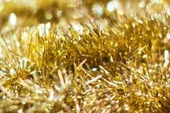 Fundo do Natal: Bokeh dourado Imagem conservada em estoque Imagens de Stock Royalty Free