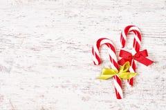 Fundo do Natal Cartão do Natal com bastão de doces Imagem de Stock