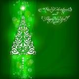 Fundo do Natal com árvore de Natal Fotografia de Stock