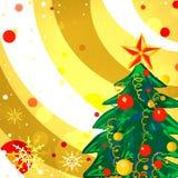 Fundo do Natal com árvore de Natal Imagem de Stock