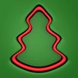 Fundo do Natal com a árvore de Natal verde e vermelha Imagens de Stock Royalty Free