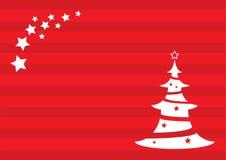 Fundo do Natal com árvore e estrela de Natal fotografia de stock