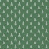 Fundo do Natal com árvores Imagens de Stock