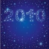 Fundo do Natal com as 2010 estrelas no céu Imagem de Stock Royalty Free