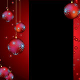 Fundo do Natal com baubles Foto de Stock Royalty Free