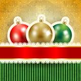 Fundo do Natal com baubles Fotos de Stock