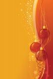 Fundo do Natal com Baubles de vidro Fotos de Stock Royalty Free