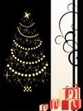 Fundo do Natal com christmastree Ilustração do Vetor