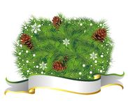 Fundo do Natal com cone do pinho Foto de Stock Royalty Free