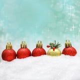 Fundo do Natal com decoração do Xmas Fotos de Stock Royalty Free