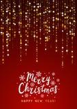 Fundo do Natal com decoração dourada ilustração do vetor