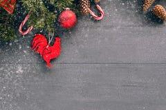 Fundo do Natal com decorações Foto de Stock Royalty Free