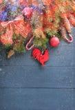 Fundo do Natal com decorações Fotografia de Stock Royalty Free