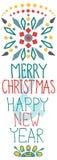 Fundo do Natal com decorações bonitos e texto Imagens de Stock Royalty Free