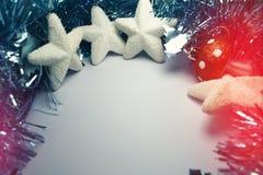 Fundo do Natal com decorações da árvore Fotografia de Stock Royalty Free