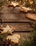 Fundo do Natal com decorações e espaço do texto Imagens de Stock