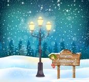 Fundo do Natal com esfera Imagens de Stock Royalty Free
