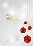 Fundo do Natal com esfera vermelha Imagem de Stock