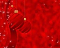 Fundo do Natal com esferas ilustração stock