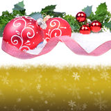 Fundo do Natal com esferas Foto de Stock Royalty Free