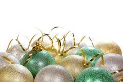 Fundo do Natal com esferas coloridas Imagem de Stock Royalty Free