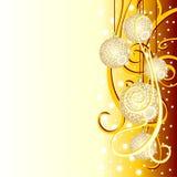 Fundo do Natal com esferas do abeto Imagens de Stock Royalty Free