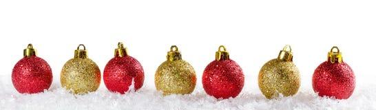 Fundo do Natal com esferas do Natal Imagem de Stock